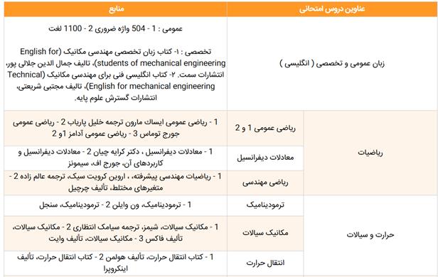 دروس رشته مهندسی مکانیک خودرو